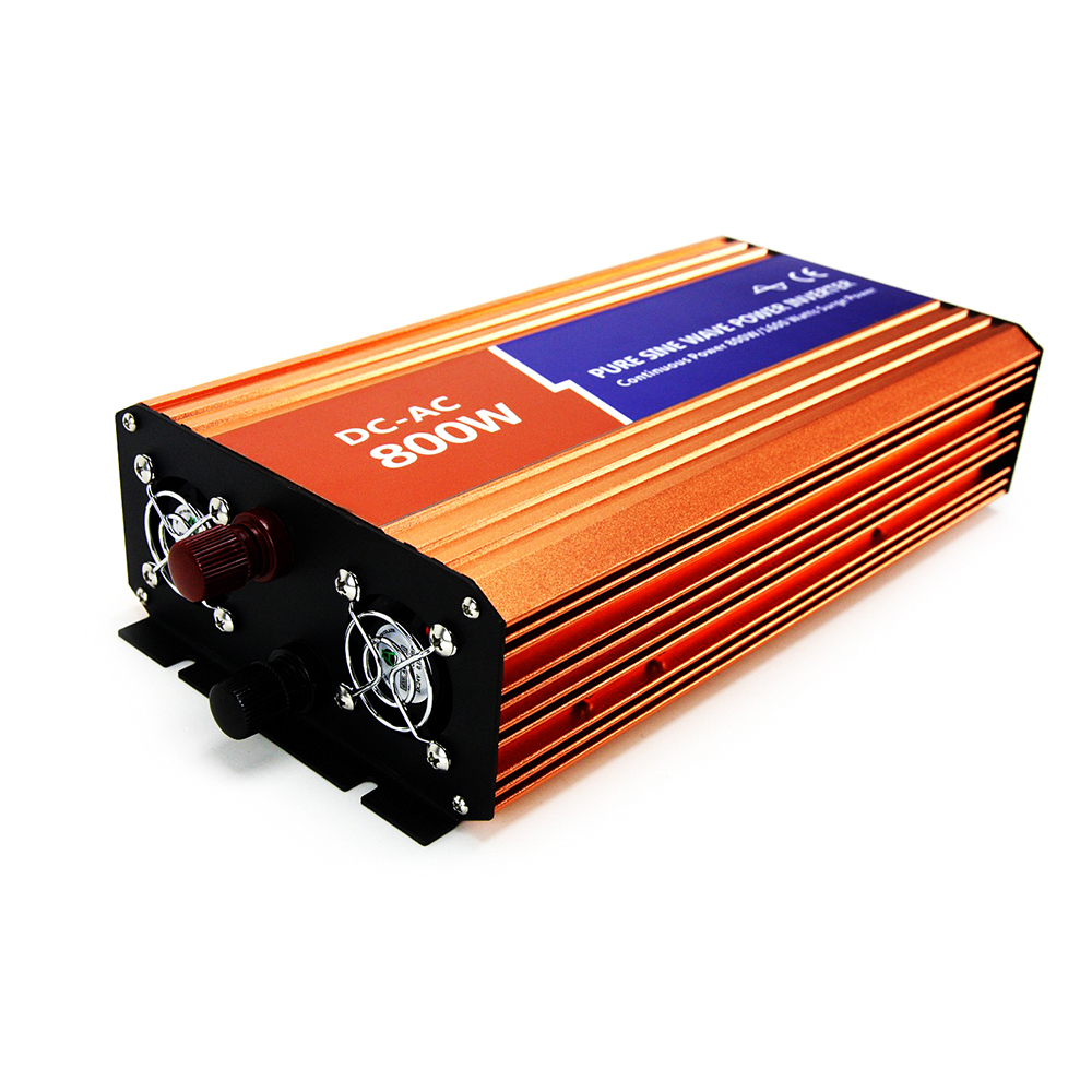 MAYLAR 12VDC 800W Off-grid Pure Sine Wave Power Inverter AC220V 230V 240V For Solar Home PV or Wind Turbine System Connected maylar 3 phase input45 90v 1000w wind grid tie pure sine wave inverter for 3 phase 48v 1000wind turbine no need extra controller