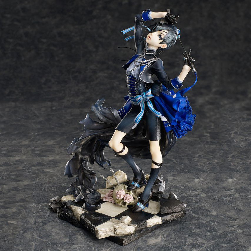 Anime Black Butler Book of Murder Ciel Phantomhive Brinquedos PVC 22CM Action Figure Collectible doll Christmas Gift Toy HZW099 ynynoo anime black butler sebastian michaelis pvc action figure collectible model toy about 24cm free shipping k434