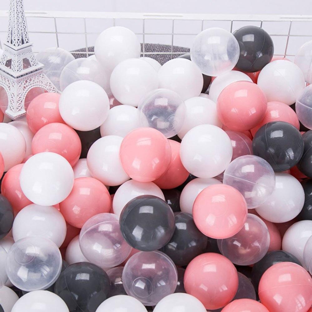 100 unids/lote asecológico suave de plástico de piscina Ocean Wave Ball de natación Pit Balls bebé Juguetes Divertidos estrés Bola de aire al aire libre
