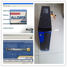 2017 Top Alldata 10.53 Auto Repair Software + Mitchell on demand 2015 installed well in 2TB HDD Harddisk + MINI Desktop Computer(China (Mainland))