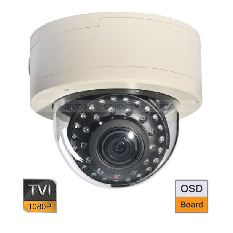 2PCS HD TVI 2MP 1080P Vandal Proof Dome Camera 2.8-12mm Varifocal Lens OSD Board