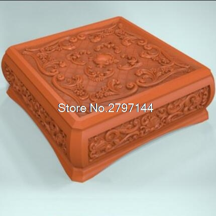 Box 3D Model Relief Figure STL Format Religion Jewelry Box 3d Model Relief  For Cnc In STL File Format
