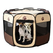 Dog House Portable Foldable Playpen Pet Puppy Exercise Kennel Cage Resistant Outdoor pet mat Removable dog tent Bed fence