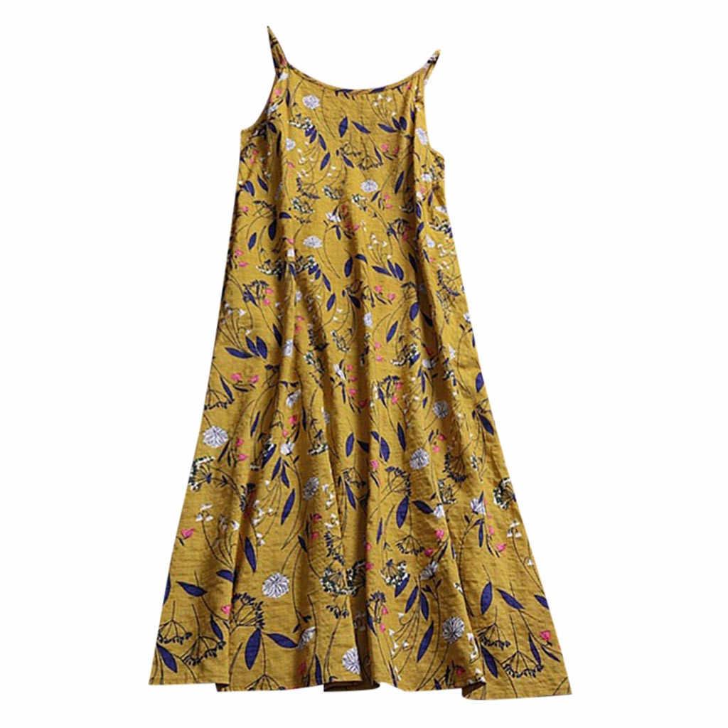 0617f773ff0ac women dresses free shipping lady dresses Casual Long Maxi Sundress Beach  Party Boho Floral Print yellow dress girl white dr #5Z