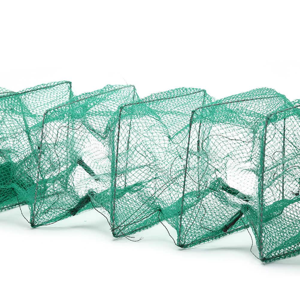 2.4 m Pieghevole Portatile di Rete Da Pesca Anguilla Esca Gamberi Reti Granchio Gamberi Lobster Catcher Trappola Dal Vivo di Pesce Netto