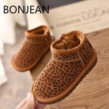 b500f29dc9e45 Meisjes schoenen hiver Nouvelle ogc enfant grils neige bottes enfants  Imprimé Léopard Garçon Grand coton chaussures