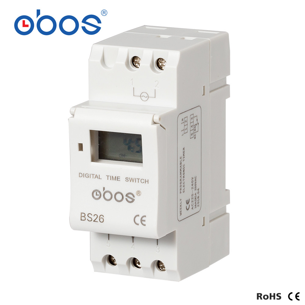 OBOS AHC15A New Power outages memory 220V digital timer din timer digital with 16 times on/off per day time set range 1min-168H