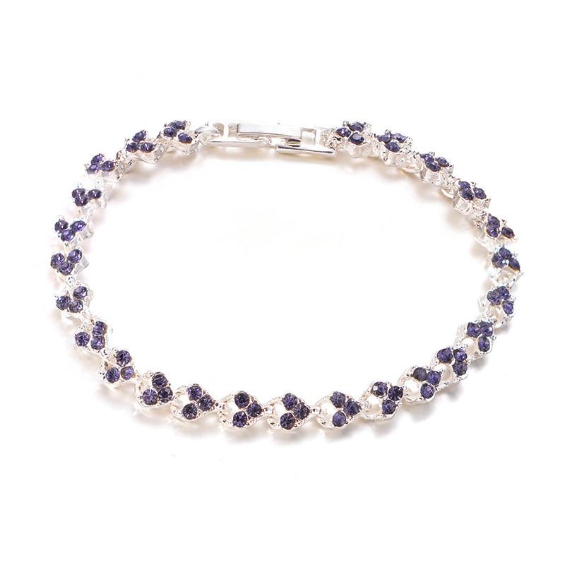 Women Charm Shiny Crystal Bracelet Bangle Jewlery Accessories Gifts CX17