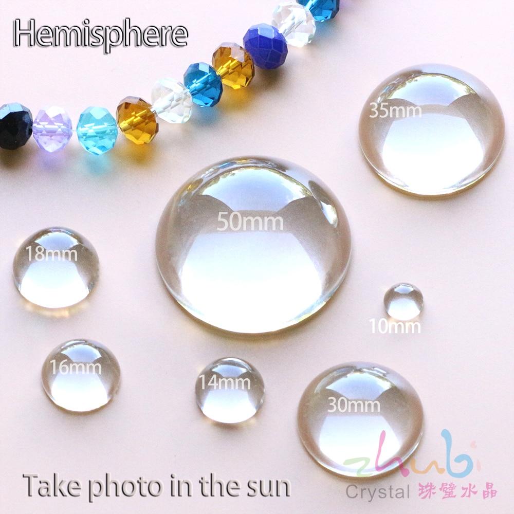 Diy Perlen Für Armbänder 8-50mm Hemisphäre Klarglas Lose Runde Transparente Perlen Tschechische Kristallsteinen Für Diy Schmuck Machen SchöNer Auftritt Perlen