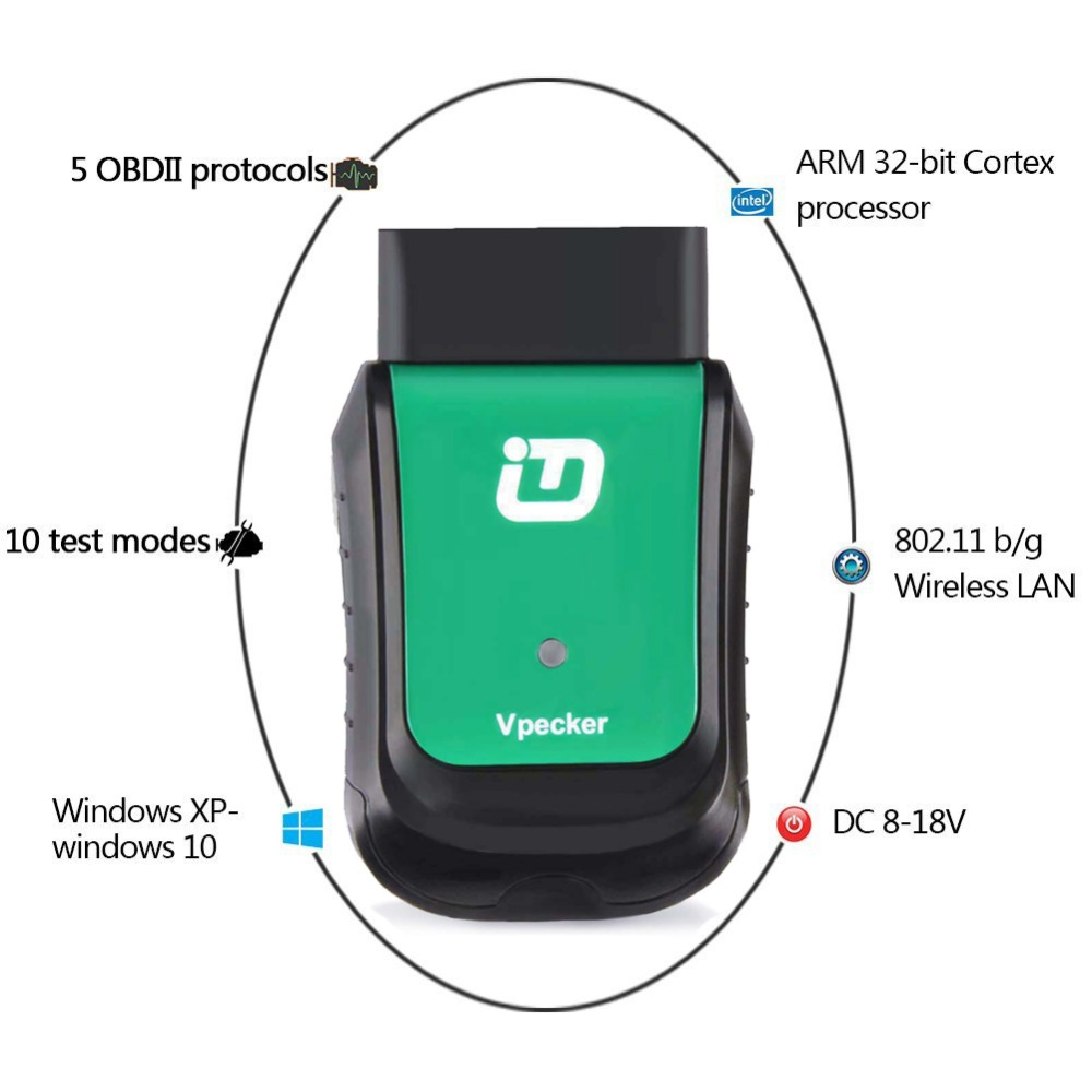 2019 Vpecker Easydiag OBD2 Wifi / Bluetooth V10.6 OBD 2 Automotive Scanner +8 inch Windows 10 Vpecker Tablet ODB 2 Autoscanner Lahore