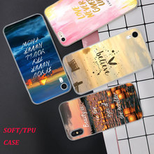 Silicone Phone Case Motivational Quotes Fashion Printing for iPhone XS XR Max X 8 7 6 6S Plus 5 5S SE Phone Case Matte Cover стоимость
