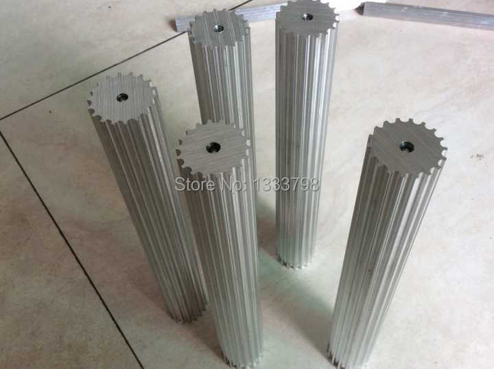 цена на Wholesale price CNC machine part 18 teeth  HTD5M timing pulley,timing bar Aluminum material stock