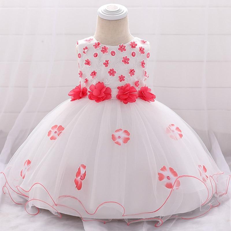 Summer princess   flower     dress   baby   girl     dress   newborn 0-2 years ball gown fluffy costume first communion   dresses   baptism vestido