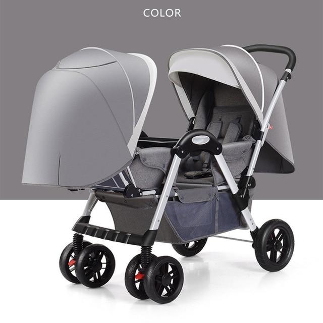 SHENMA Twin kinderwagen Dubbele baby kan zitten en lag licht opvouwbare kinderwagen Gratis verzending 1