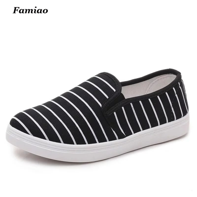 Famiao 2017 women canvas shoes low breathable women Zebra Stripes flat shoes casual slip on shoe e lov women casual walking shoes graffiti aries horoscope canvas shoe low top flat oxford shoes for couples lovers