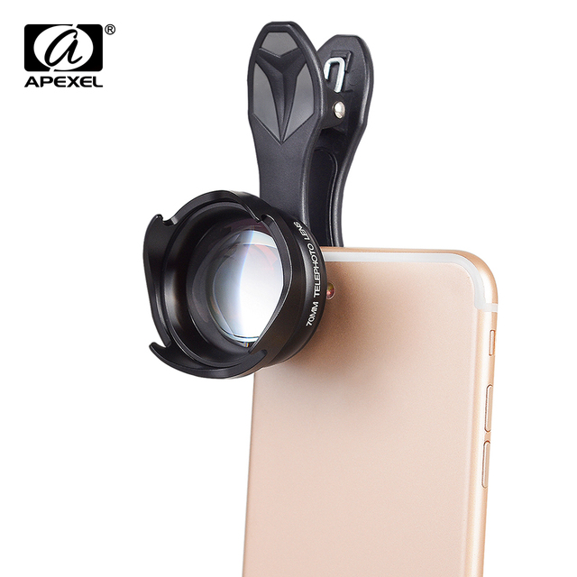 quality design c82f8 9de6e US $23.09 30% OFF|APEXEL Professional Phone Camera Lenses 2.5X HD SLR  Telefon bokeh Portrait Telescope lens For iPhone 7 8 Xiaomi Smartphone  70mm-in ...