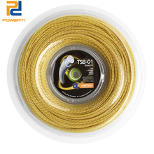 POWERTI TENACITY 1.30mm Tennis String Wire Soft Tennis Racket String 200m Reel 56-59 Pounds Yellow TSB-01