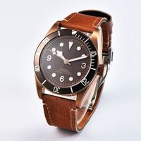 41mm Brass PVD Coated Case Sapphire Glass Sterile Coffee Dial male Clock luxury brand Luminous Mens Automatic Watch