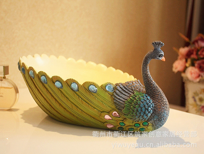 Wedding Gift Direct: Factory Direct Resin Crafts Peacock Fruit Tray Wedding