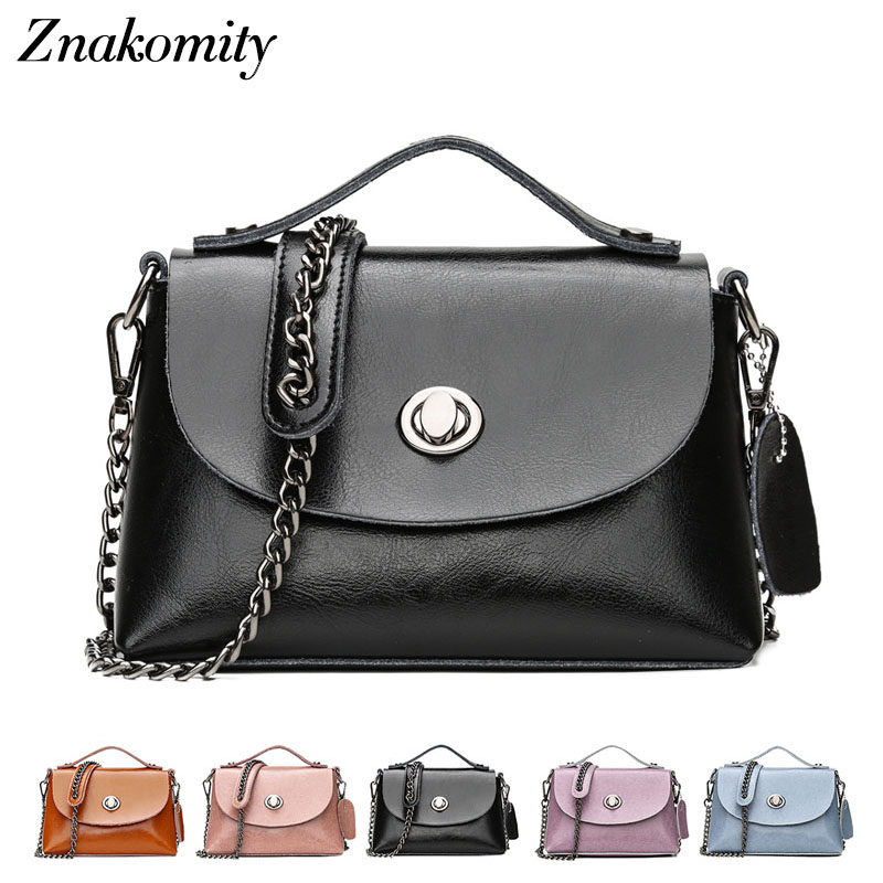 Znakomity Woman mini genuine leather shoulder bag messenger bag women's black brown Small real leather crossbody bags for women