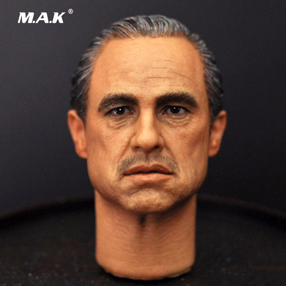 1/6 Scale Marlon Brando The Godfather Corleone headsculpt For 12 Male Body Collection Headply Head Carvings Toys 1 6 batman joker heath ledger mask headsculpt for 12inch doll parts body clothes and body are not included