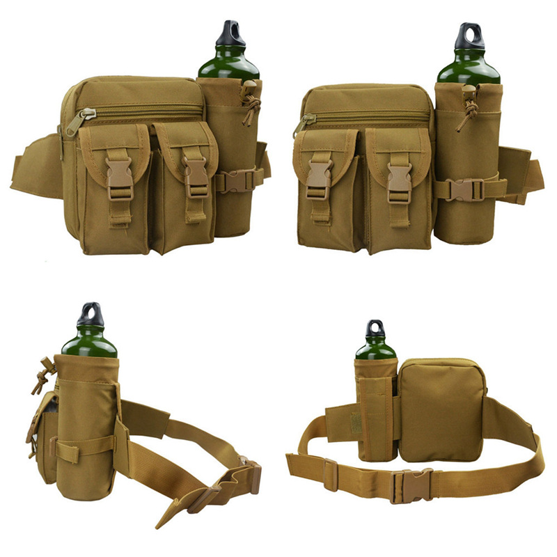 все цены на Outdoor Military Tactical Shoulder Bag Waterproof Oxford Camping Hiking Safe Pouch Kettle Bag Waist Pack Bag