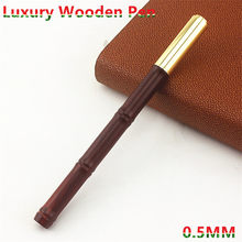 New Metal Creative wood bamboo Pen Rollerball Pen Fashion Business Office Signing Pens 0.5mm Bullet Tip Writing Pens