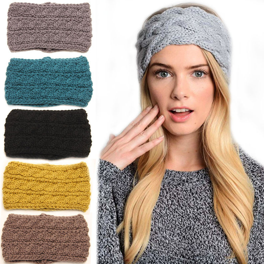 Trendy Women's   Headwear   Knitted Headbands Winter Warm Head Wrap Wide Hair Accessories high quality Acrylic Great For Daily @20
