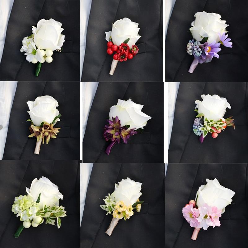 groom boutonniere artificial silk rose flower best man. Black Bedroom Furniture Sets. Home Design Ideas