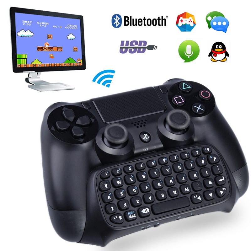 wireless bluetooth mini keyboard video game gamepad for sony playstation 4 ps4 controller. Black Bedroom Furniture Sets. Home Design Ideas