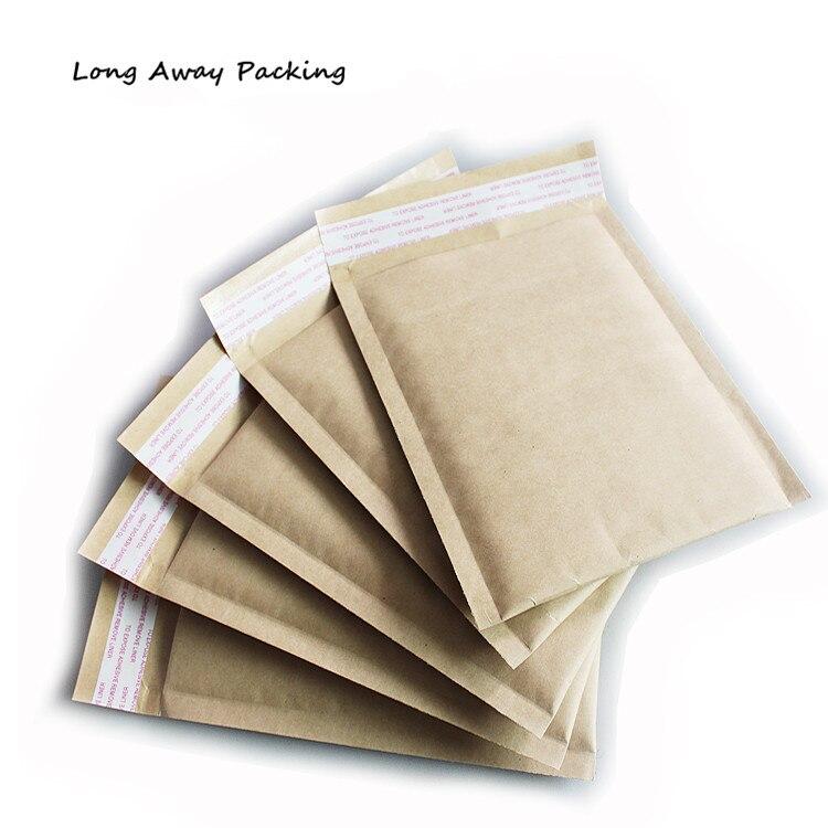 Small Middle Size Brown Kraft Color Bubble Envelope Bubble Film Bag Pearl Film Envelope Shock Bag 50pcs/lot