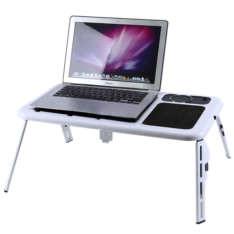HOT GCZW-Laptop Desk Foldable Table e-Table Bed USB Cooling Fans Stand TV Tray dual usb cooling fans