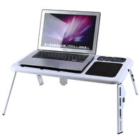 HOT GCZW Laptop Desk Foldable Table E Table Bed USB Cooling Fans Stand TV Tray