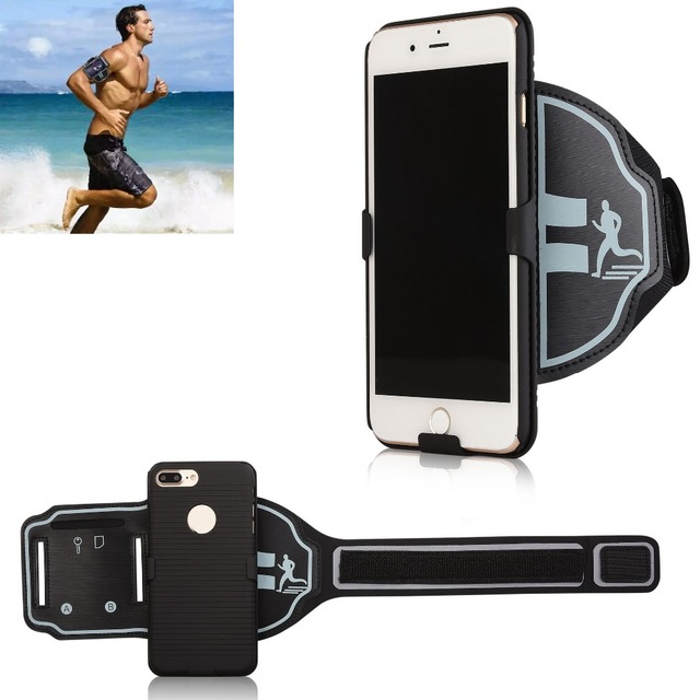 hot sale online e3f92 b0938 US $9.88 10% OFF|Sport mobile phone case armband Gym Running Exercise Phone  Holder Pouch arm band For iPhone X 7 8 6s 6 -in Armbands from Cellphones &  ...