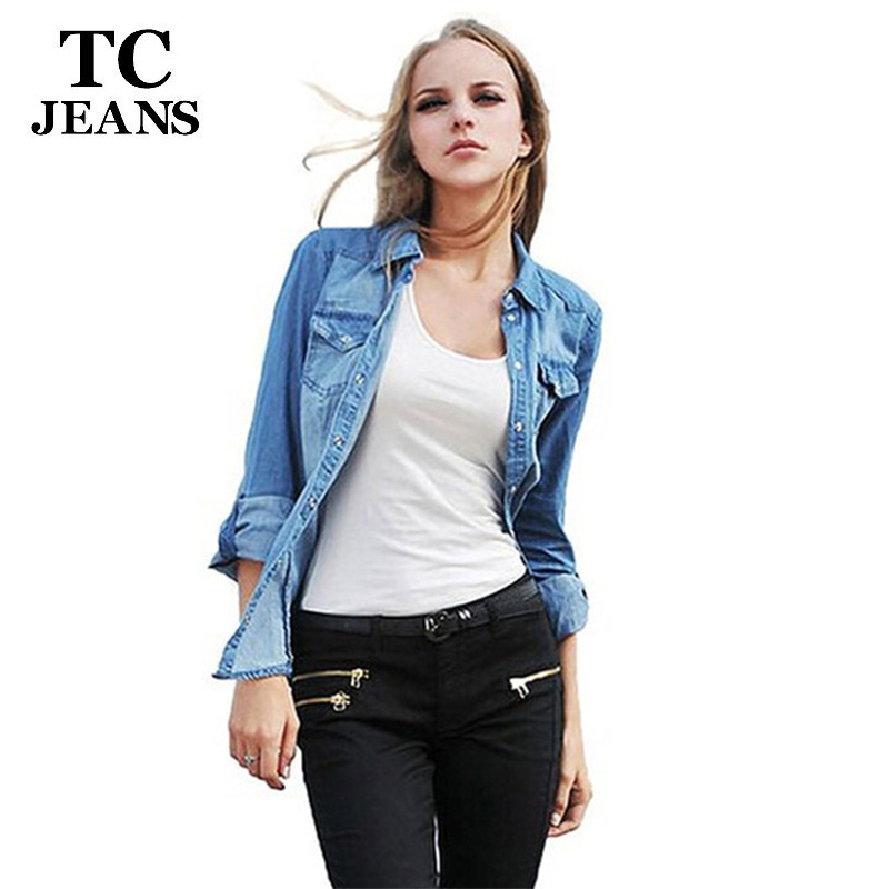 Compare Prices on Women Jean Shirt- Online Shopping/Buy Low Price ...