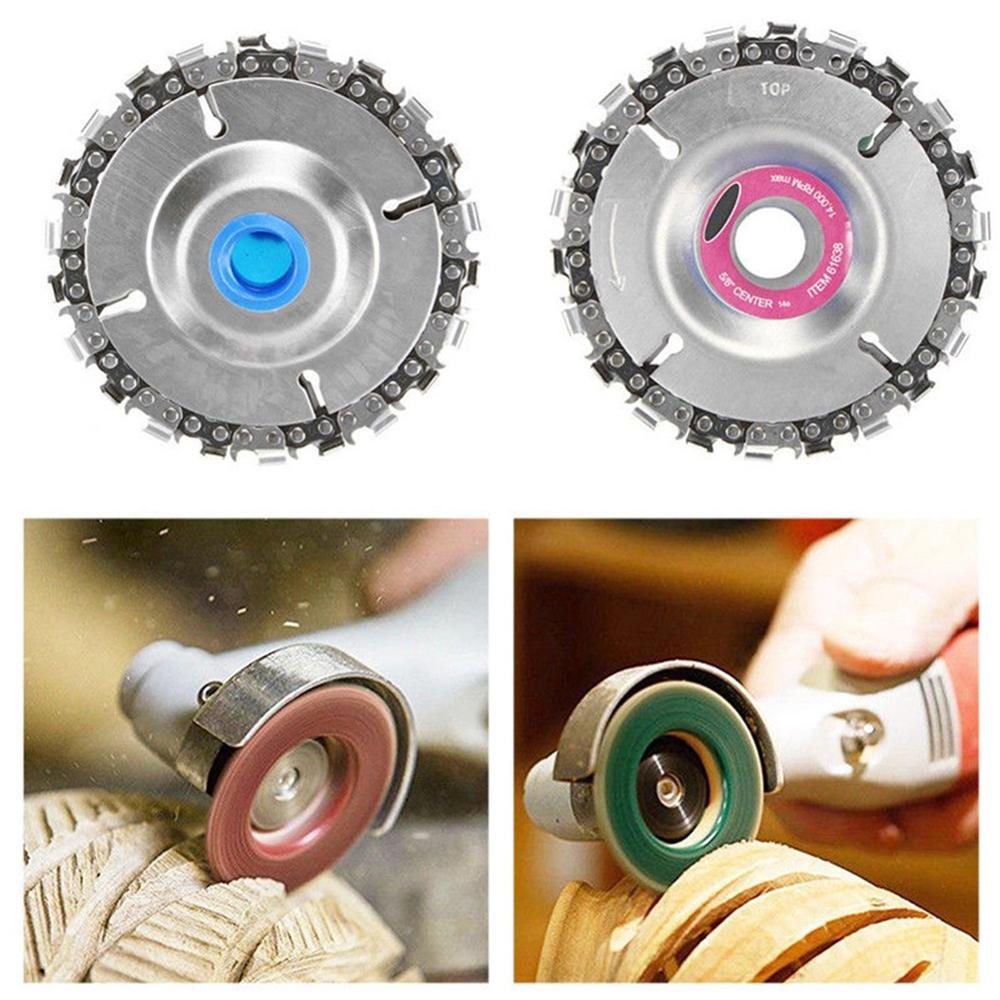 4 Inch 22 Teeth Chain Disc Wood Carving Cutting Tool For 100/115mm Angle Grinder