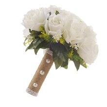 웨딩 신부 꽃다발 화이트