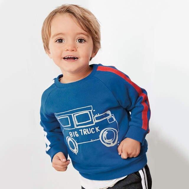 82c6f7becf84e Little maven children brand baby boy clothes 2019 autumn new boys cotton  long sleeve tops big truck print blue t shirt C0170