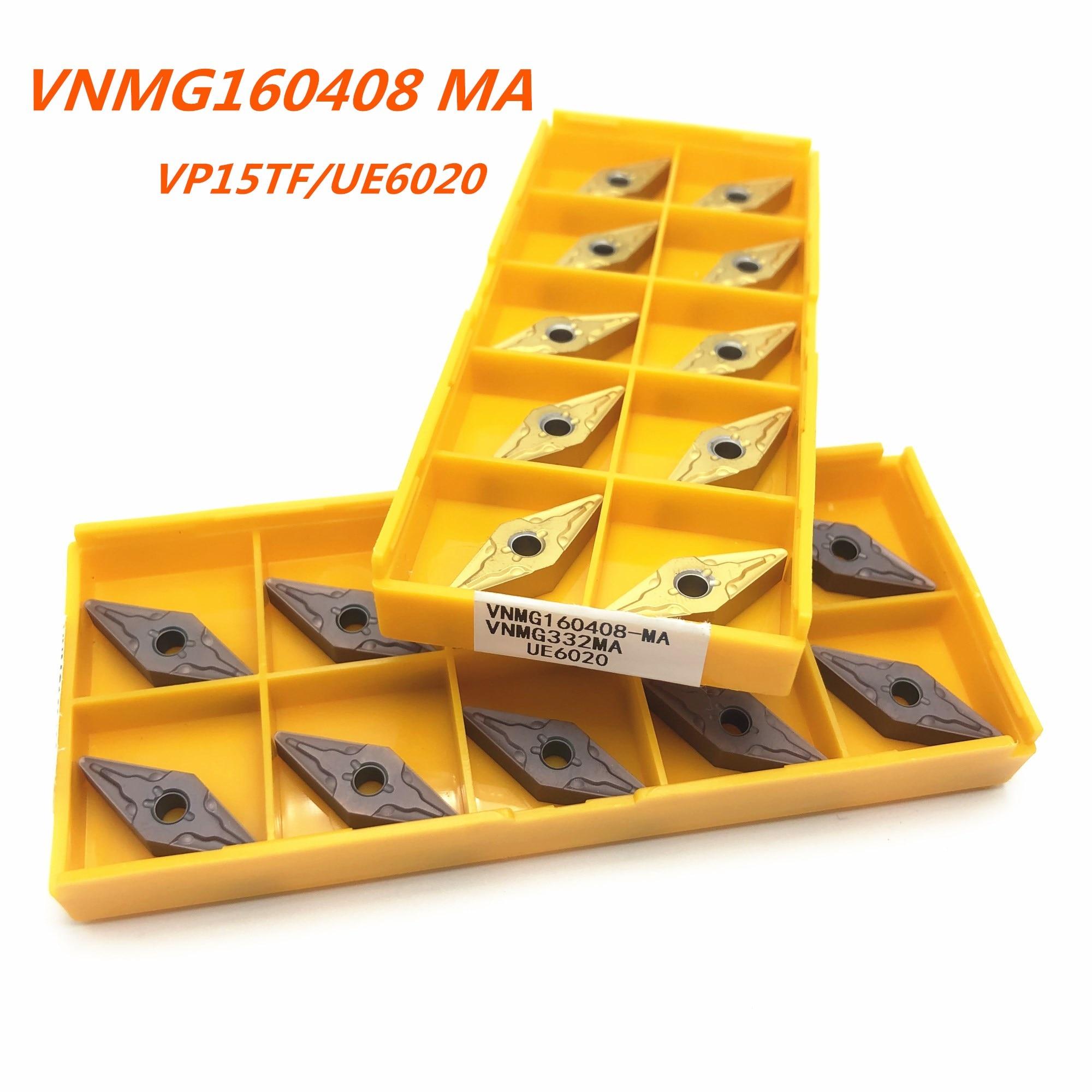 VNMG160408MA VP15TF UE6020 US735 carboneto ferramenta de tornear lâmina de metal de alta qualidade máquina CNC fresa ferramenta torno VNMG 160408