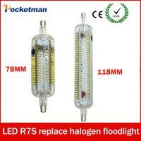 Silicone R7S LED Lamparas AC 220V 240V Corn Lamp 78mm 118mm Light SMD 3014 Bulb 10W