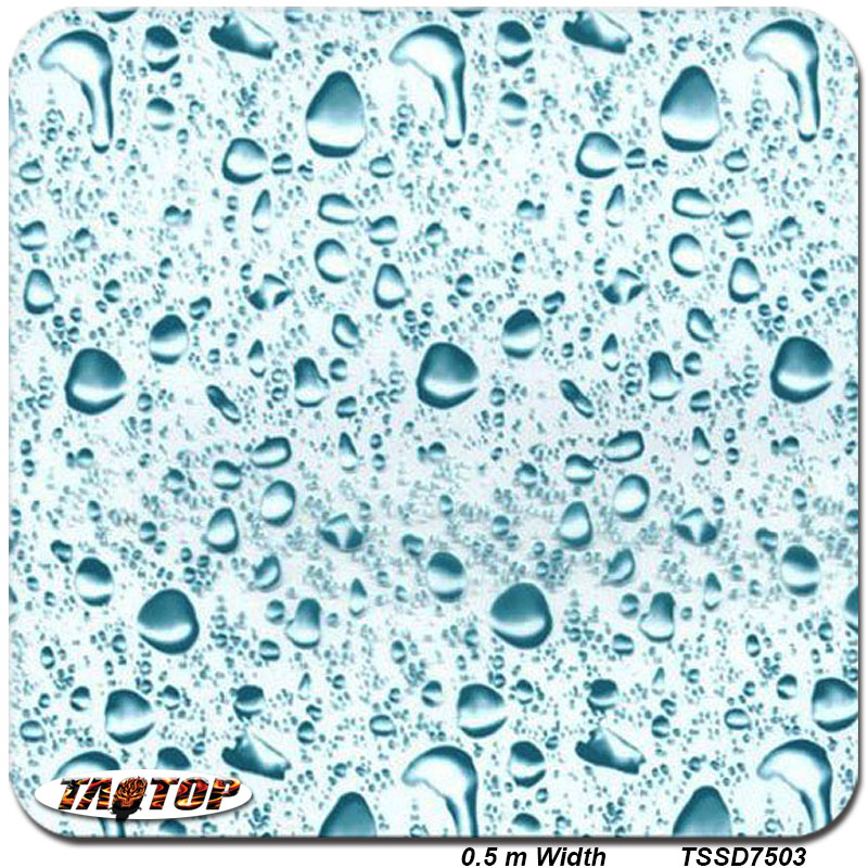 TSSD7503  0.5M * 2M Popular TOP Quality Water Drop Blue Hydro Dipping Hydrographics Film Water Transfer Printing Films