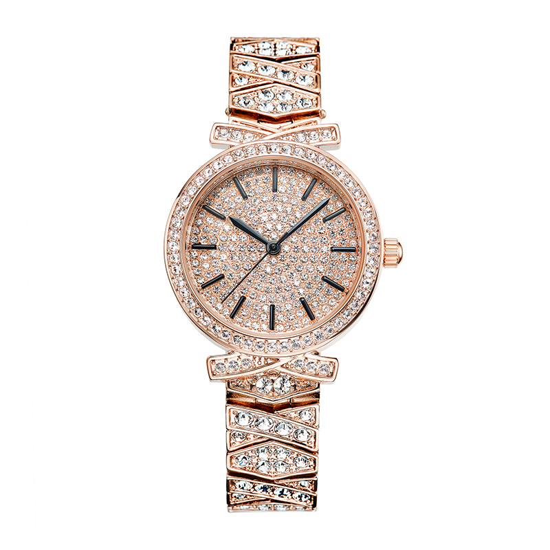 Relogio Feminino Rose Gold Watches Woman Quartz Watch Ladies Steel Bracelet Waterproof Watch Top Brand Luxury Dress Clock Drill 2018 luxury top brand quartz watch women fashion steel bracelet dw watch style ladies dress watch relogio feminino analog clock