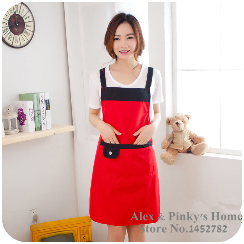 Honest Korean Version Simple And Stylish Shoulder Strap Sleeveless Home Aprons Waterproof Oil Novelty Aprons Vintage Style Aprons Household Cleaning
