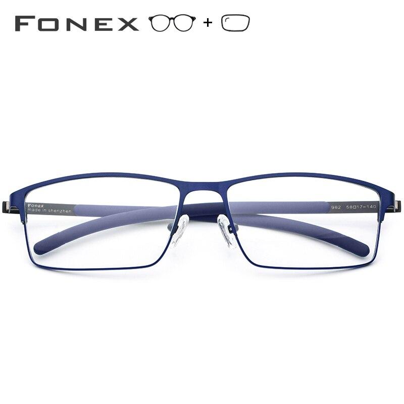 Gafas graduadas de aleación de titanio para hombre ultraligero cuadrado miopía prescripción gafas 2019 Metal óptico sin tornillos gafas - 2