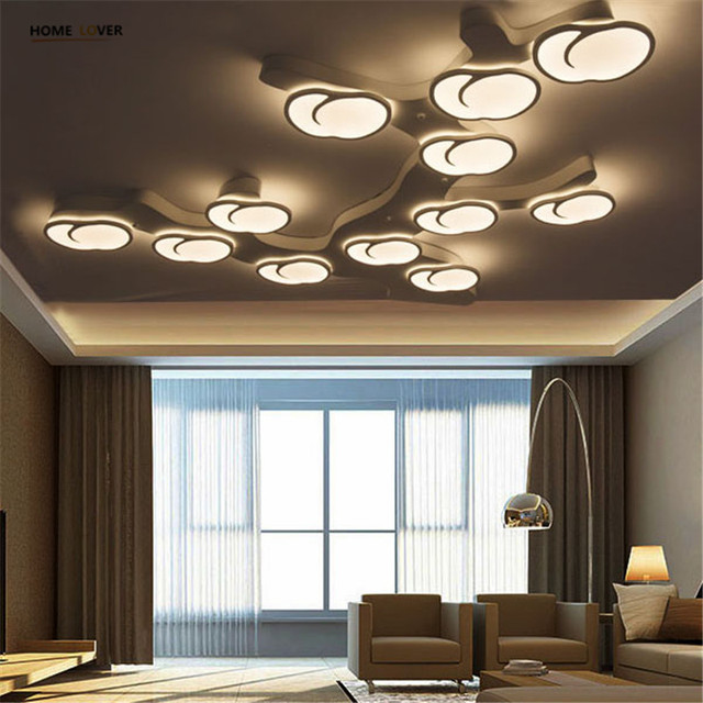 new apple tree designer modern led ceiling lights luminaria led for living room bedroom remote. Black Bedroom Furniture Sets. Home Design Ideas