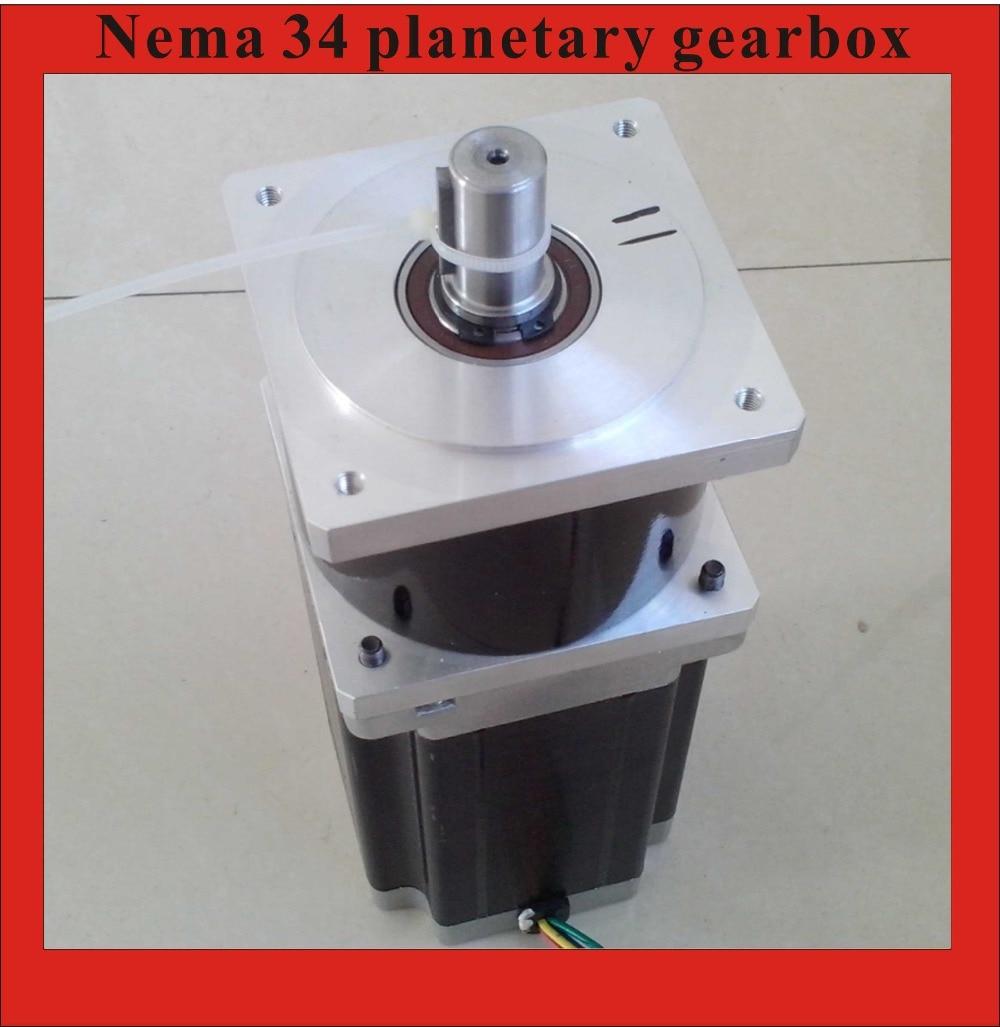 3:1 Precision Version NEMA34 Planetary Stepper Motor 126mm Motor Length NEMA 34 Gear Stepper high precision nema 34 planetary stepper motor 126mm motor length nema34 geared stepper ratio 15 20 25 50 100 1