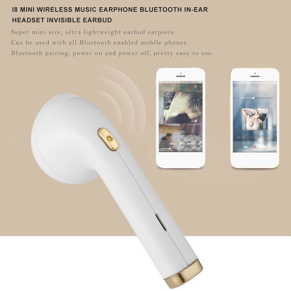 HBQ I8 Mini Wireless Music Earphone Bluetooth  Headset Invisible Earbud Earbud Headphones For All Smart phone Bluetooth mobile phone