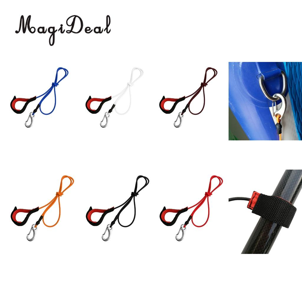 Safety Paddle Leash Lanyard Fishing Rod Safety Cord Tether Hook Kayak Canoe Boat