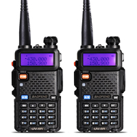 2pcs Baofeng UV 5R 136 174 400 520 MHz Walkie Talkie 5W UHF VHF Dual Band