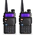 2 pcs baofeng uv-5r walkie talkie vhf/uhf 136-174 mhz & 400-520 mhz dual band baofeng uv 5r rádio em dois sentidos portátil walkie talkie uv5r